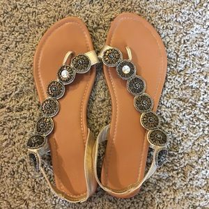 Gold and Bronze Sandals